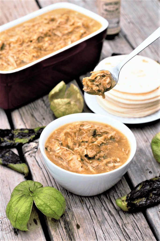 Green chile trades tomatoes for tomatillos and beef for pork, all slow-simmered & loaded with freshly roasted green chiles for the most delicious stew!