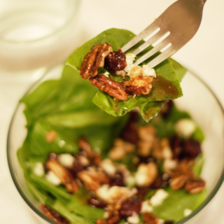 Candied Pecan Blue Cheese Cranberry Salad