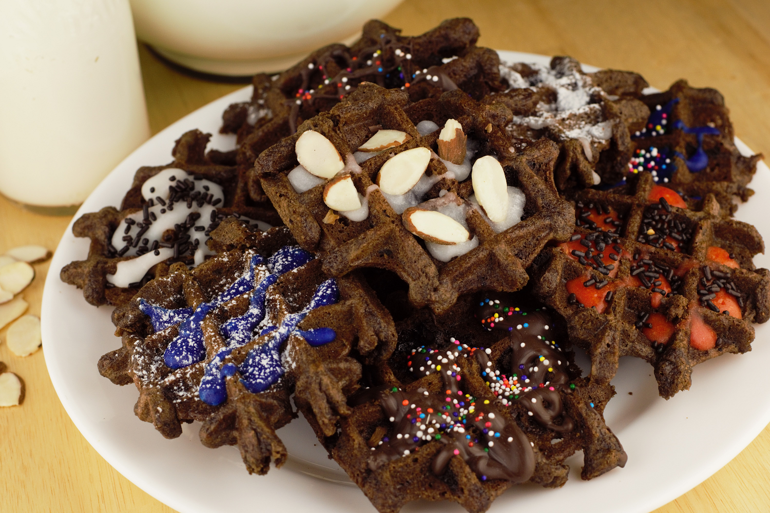 Brownie Waffle Cakes