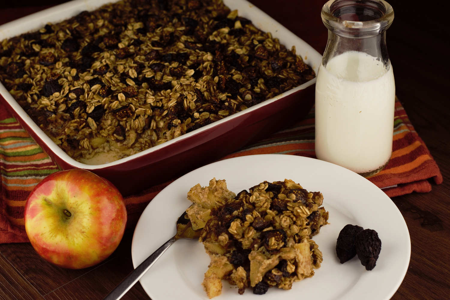 Baked Apple Fig Oatmeal