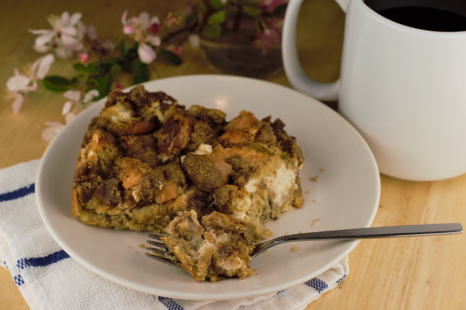 Dining with Dimon: Cream Cheese French Toast Bake