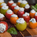 Basil Goat Cheese Tomato Bites | Mountain Cravings