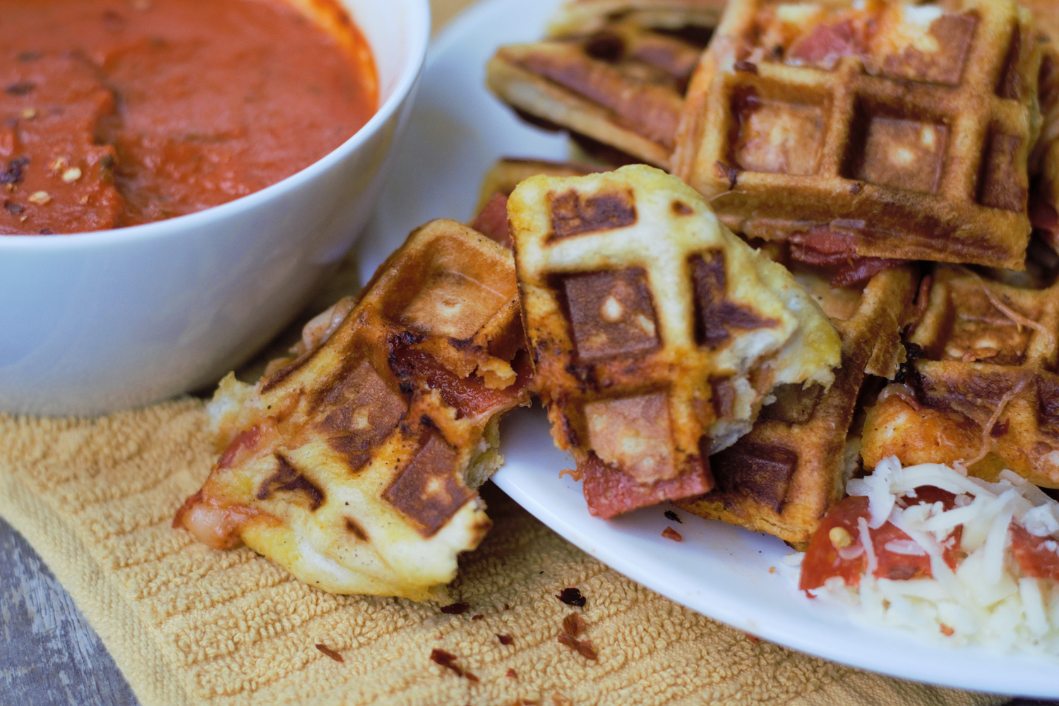 Stuffed Pizza Waffles | Mountain Cravings