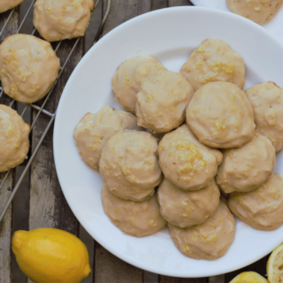 Glazed Lemon Ricotta Cookies