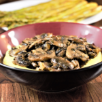 Roasted Mushrooms and Creamy Parmesan Polenta | Mountain Cravings