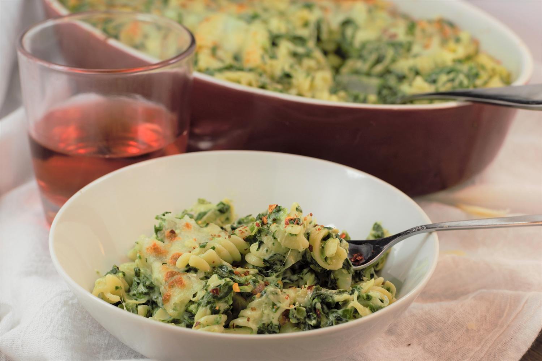Spinach Artichoke Pasta Bake | Mountain Cravings