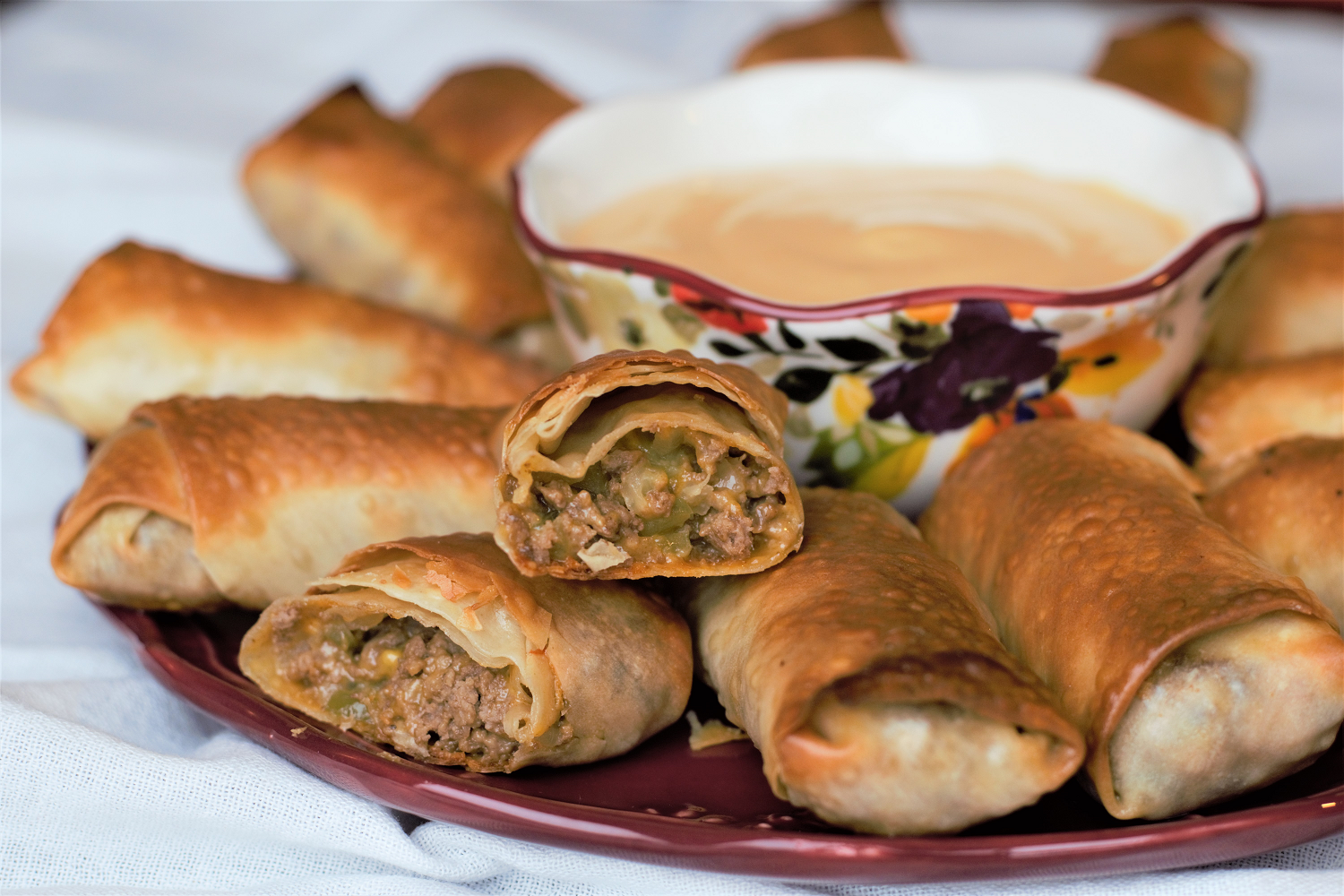Cheeseburger Eggrolls