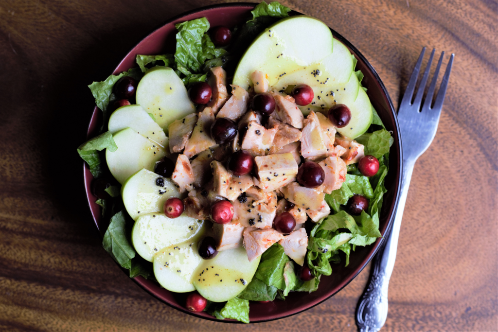 Chicken Cranberry Apple Salad with Lemon Poppyseed Dressing – Mountain Cravings