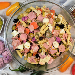 Muffuletta Pasta Salad | Mountain Cravings