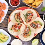 Tequila & shrimp are made for each other, perfectly seasoned with garlic & spices! Bonus, corn tortillas loaded up with veggies are delicious & healthy.