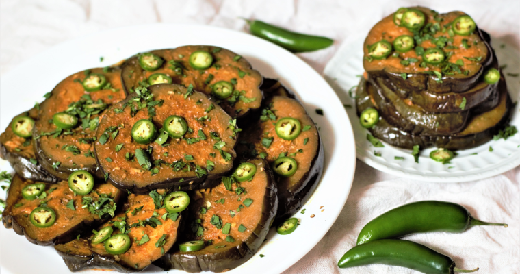 Sous Vide Curried Eggplant