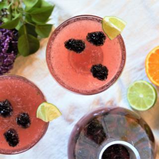 Sparkling Blackberry Margaritas