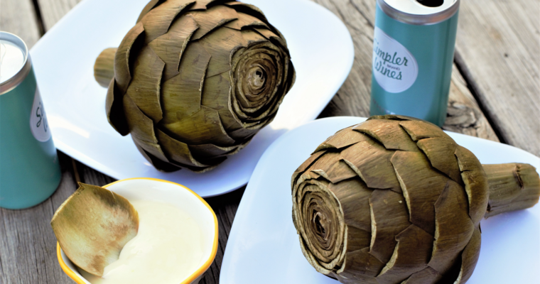 Steamed Artichokes with Creamy Garlic Butter