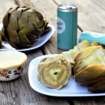 Steamed Artichokes with Creamy Garlic Butter | Mountain Cravings