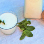 Frothy, minty, and just a tiny bit salty, ayran is here for every too-hot afternoon and too-spicy dinner to beat the heat!