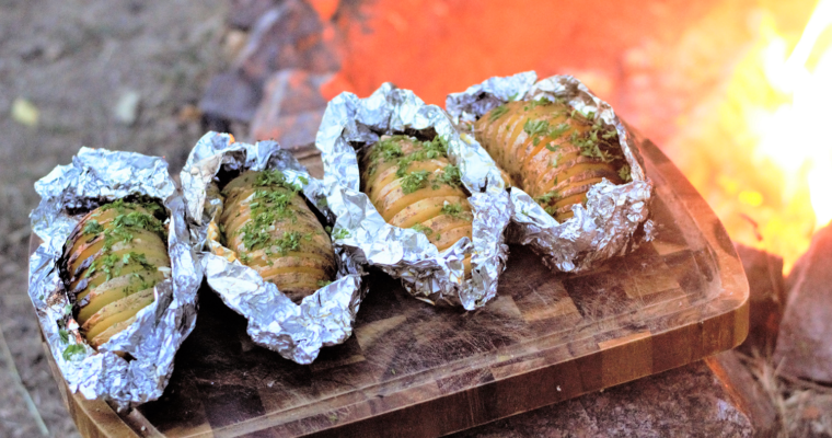 Campfire Cheesy Garlic Potatoes
