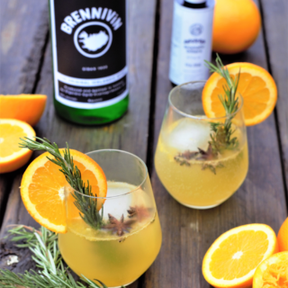 Herb & Orange Brennivín Cocktail