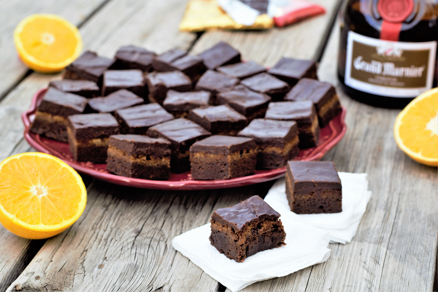 Dense, fudgy brownies loaded with orange zest and topped with rich orange liqueur ganache are pure, irresistible decadence.