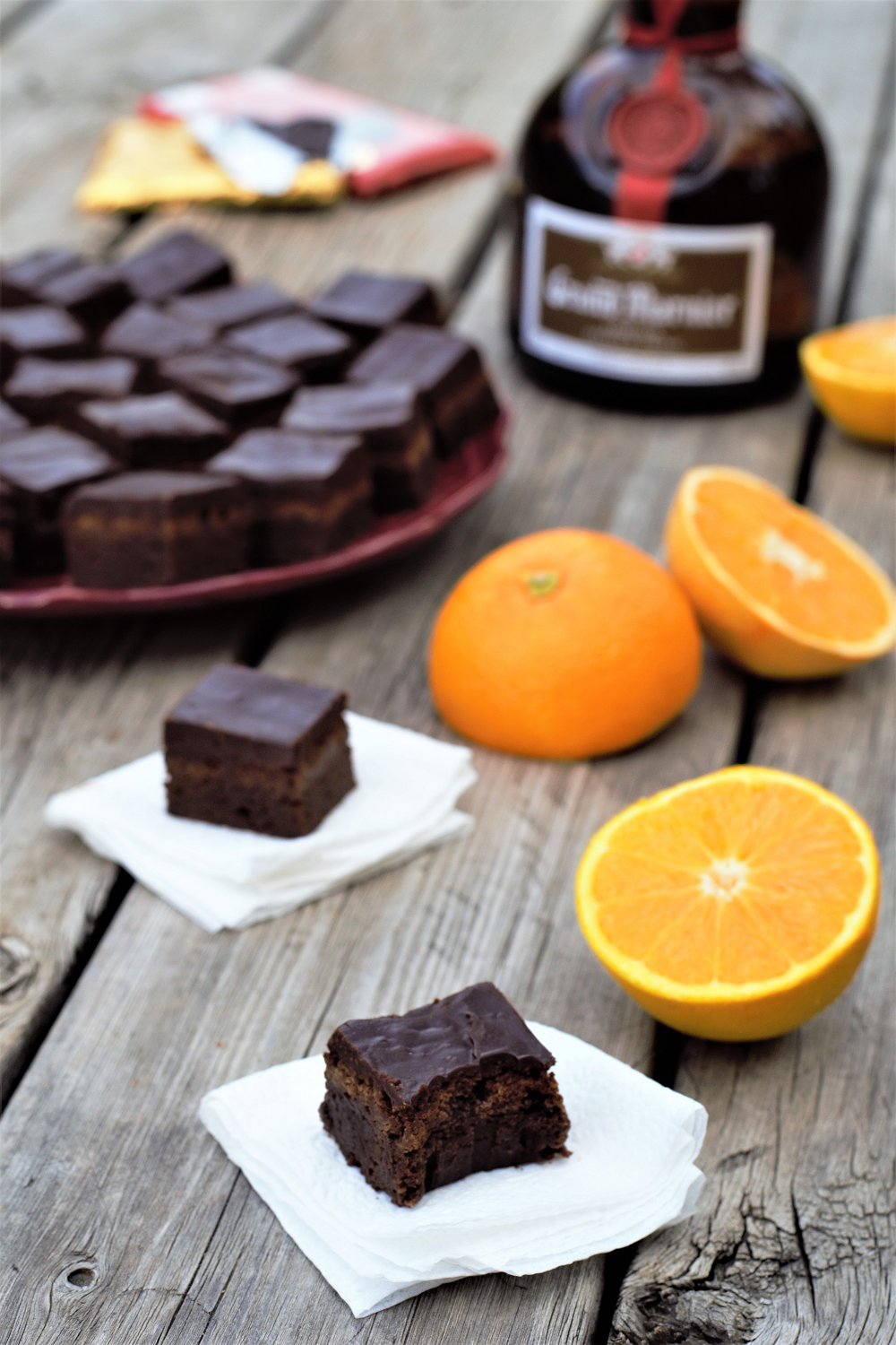Orange Liqueur Brownie Bites | Mountain Cravings