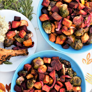 Friendsgiving: Maple Balsamic Roasted Veggies