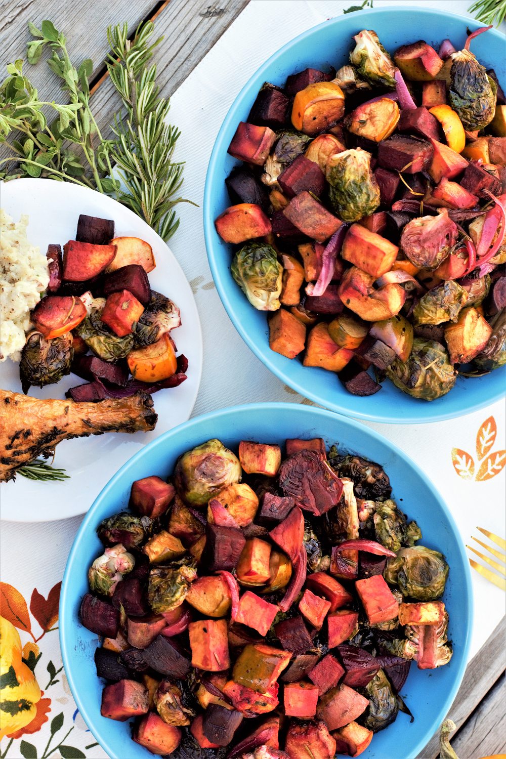 Maple Balsamic Roasted Veggies
