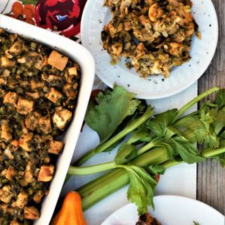 Oyster stuffing is my tried-and-true favorite Thanksgiving dish! This recipe finds a place on our table every year as a buttery, savory, rich indulgence.