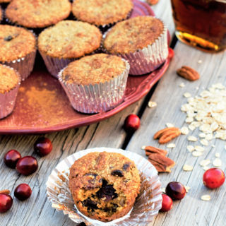 Healthy Cranberry Pecan Breakfast Muffins