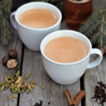 Relax & enjoy the season with a mug of rich honey milk steeped with whole cardamom, fresh ginger, toasted spices, & black tea.