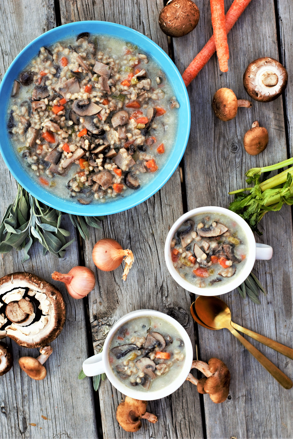 Humble, comforting, earthy flavors are a good base for naturally vegan & gluten-free make-it-your-own soup to say hello to new adventures in a new year.