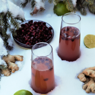 12 Drinks of Christmas: Pomegranate Champagne Mule