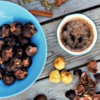 Roasting chestnuts is the perfect way to get into the holiday spirit! (Open fire optional.) Spiced vanilla browned butter is just the cherry on top.