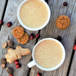 Whisk up a big pot of spicy-sweet warm comfort with molasses, fresh ginger, & nutmeg for everyone to sip while you decorate your house, gingerbread or real!
