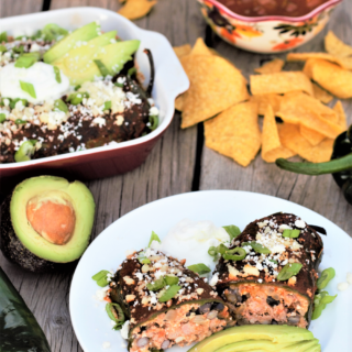 Healthy Smothered Rellenos