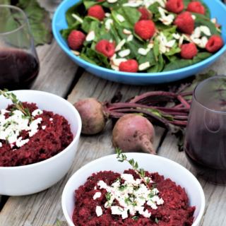 Beetroot Risotto with Goat Cheese & Thyme