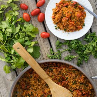One-Pot Couscous with Burst Tomatoes