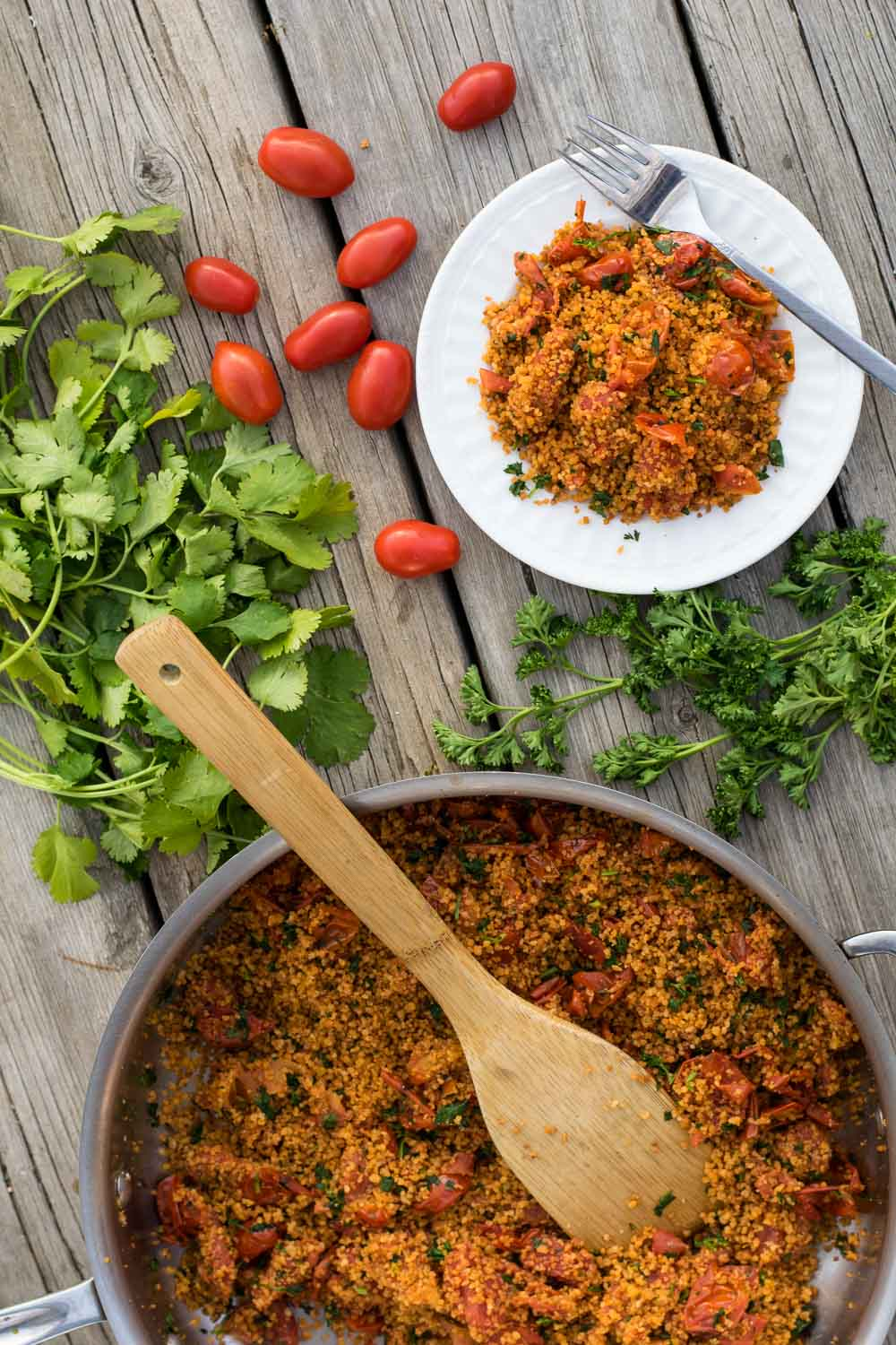 This simple, crowd-pleasing side dish of browned-butter-toasted couscous & sweet cherry tomatoes comes together in one pot, equally perfect for a quick weeknight meal or a lazy afternoon picnic!