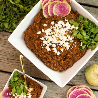 Slow Cooker Adobo Refried Beans