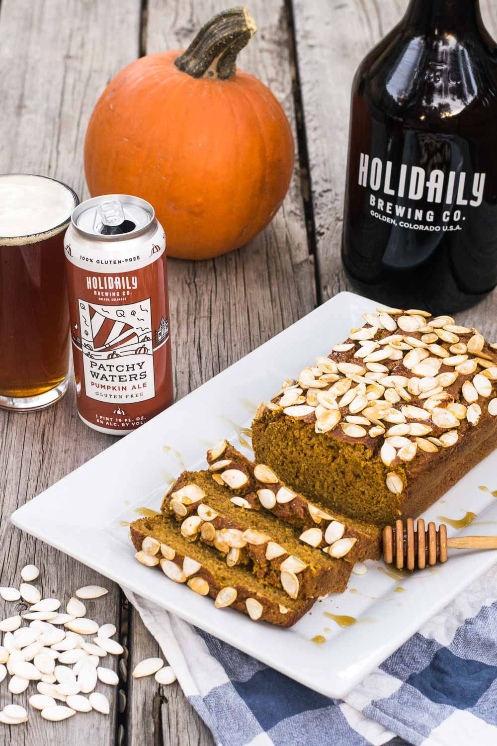 Celebrating Great American Beer Festival with craft beer recipes from Golden, Colorado! Let's spice up gluten-free beer bread with pumpkin, maple syrup, & cinnamon to welcome fall.
