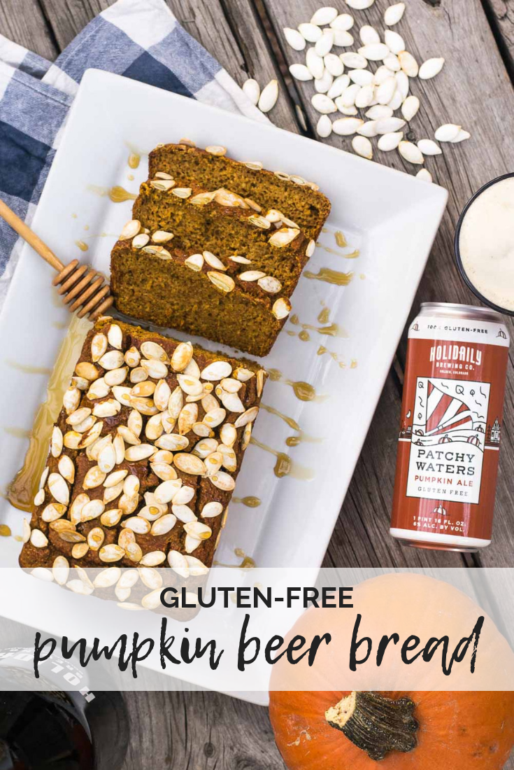 Celebrating Great American Beer Festival with craft beer recipes from Golden, Colorado! Let's spice up gluten-free beer bread with pumpkin, maple syrup, & cinnamon to welcome fall. #glutenfree #beerbread #pumpkin #beer #GreatAmericanBeerFestival #GABF #ad | mountaincravings.com