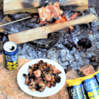 Campfire Beer-Candied Bacon