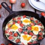 Creamed Kale Baked Eggs