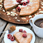 3-Ingredient Almond Butter Breakfast Cake